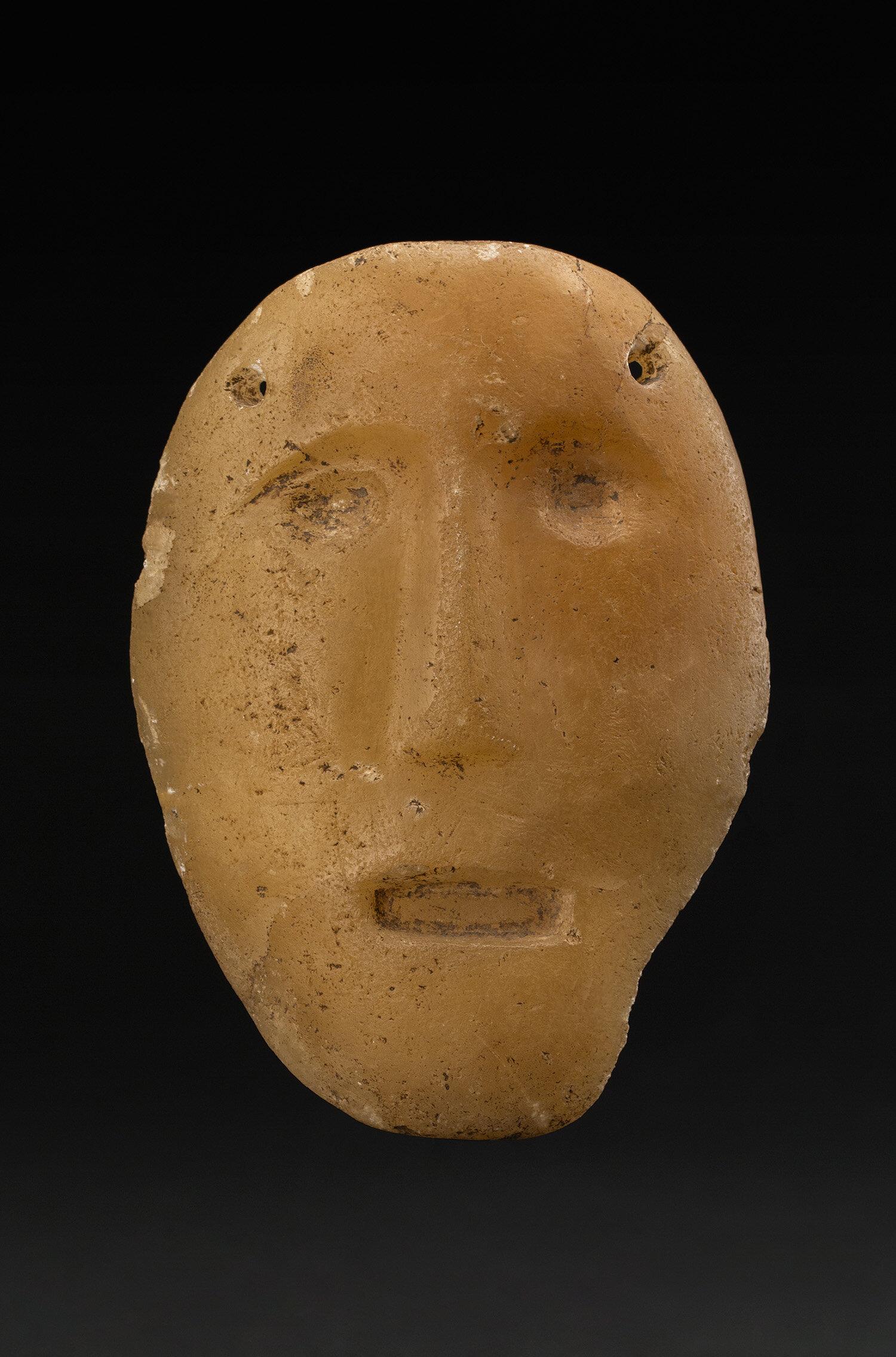 Masks  Chontal, Guerrero  , 700-300 BCE Alabaster 4.25 x 3 x 1 inches 10.8 x 7.6 x 2.5 cm M 412