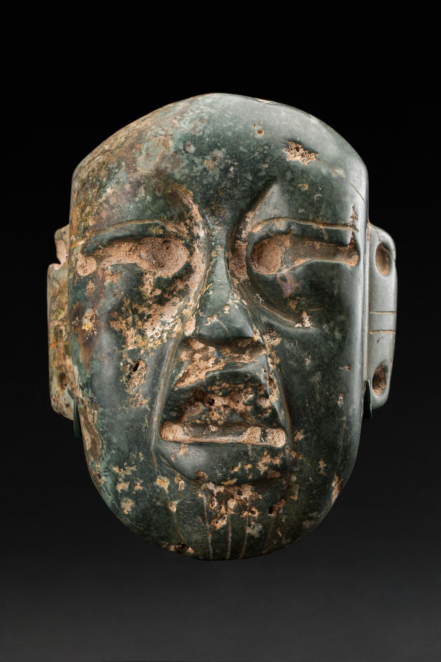 Masks  Olmec  , 1100-500 BCE Jade 5.25 x 4 x 2.5 inches 13.3 x 10.2 x 6.4 cm M 413