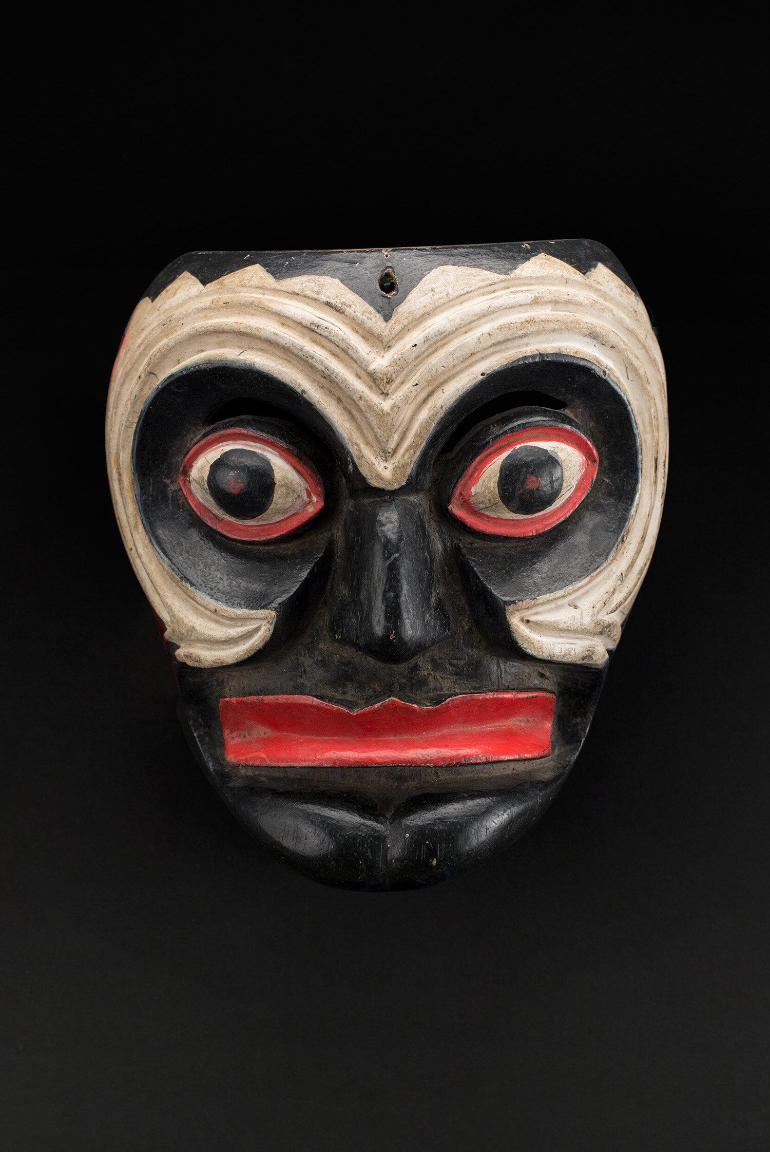 Masks  Oaxaca, Pinotepa Nacional Negrito  , Mid 20th C. Polychrome wood 7 x 6 x 3 inches 17.8 x 15.2 x 7.6 cm M 425
