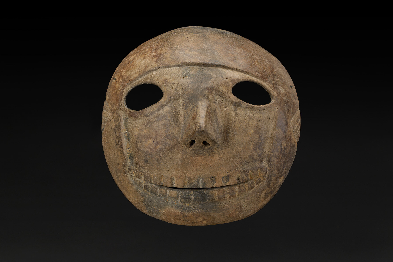 Masks  Skull Mask, Colima  , 200 BC - 300 AD Ceramic 8.5 x 8.5 x 4 inches 21.6 x 21.6 x 10.2 cm M 431s