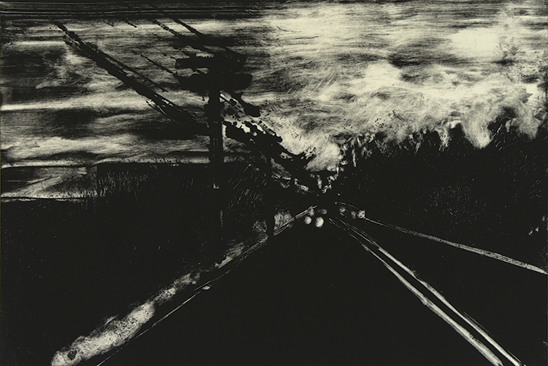 "Roads 01 - Moody Rd, Enfield  2013   10""x15""  Monotype"