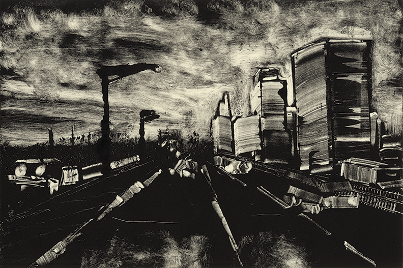 "Roads 05 -Springfield 91N   2013   10""x15""  Monotype    Sold"