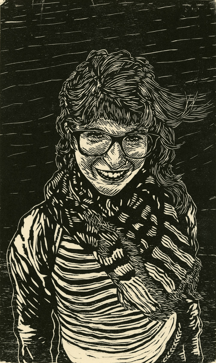 """Liz LaBrocca 2015   W  oodcut Print on Paper   6.5"""" x 10.75""""   Edition of 8"""