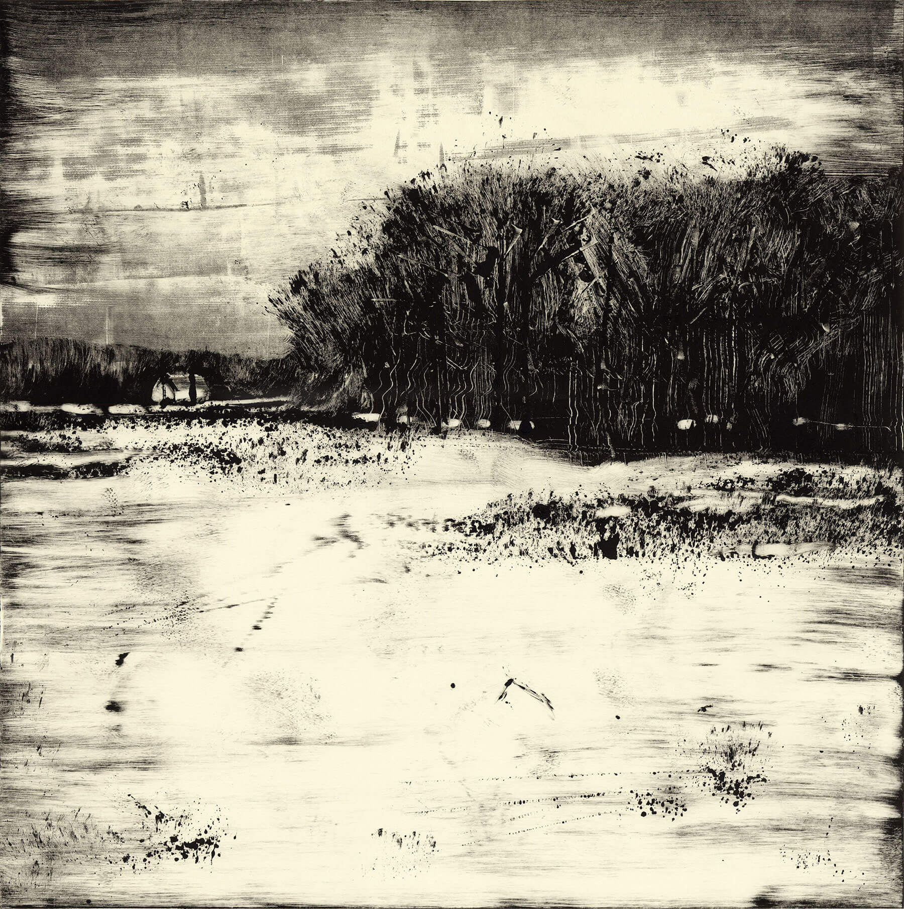 "Mill Valley Rd, Hadley 2014 18""x18"" Monotype"