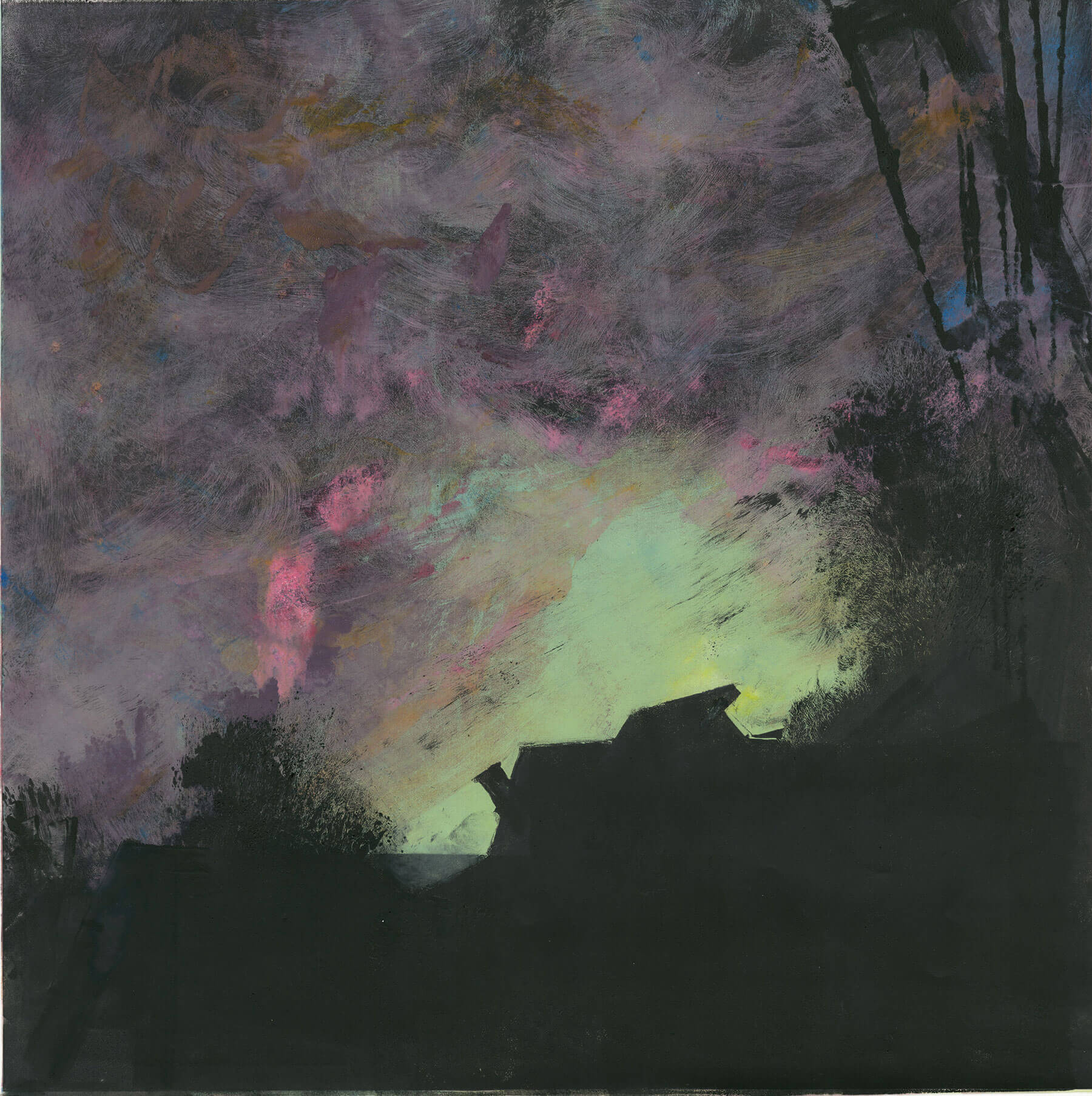 "Dusk 2014 18""x18"" Four Stage Monotype"
