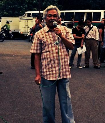 Pak Tomo di Kamisan ke-357 (Photo by Yasmin Purba)