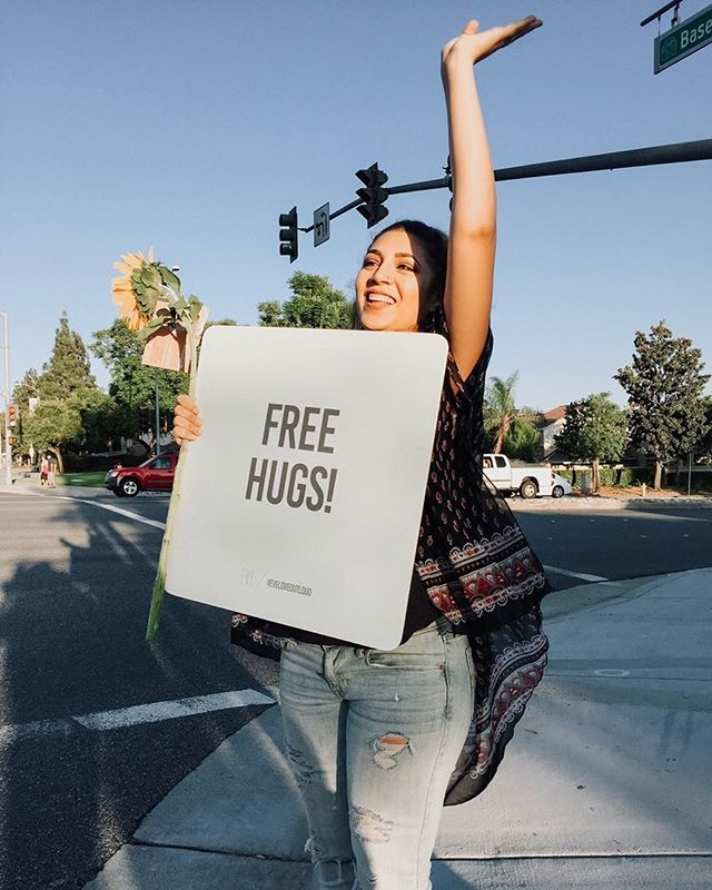 😝SERIOUSLY EXCITED for Love Out Loud this Saturday!🙌🏽We'll be the crazy-happy chicks 💃🏽dancin' on the corner of 4th + Milliken holding signs like this!👆🏽👆🏽hit the link in our bio for all the deets if ya wanna volunteer!🌻✨