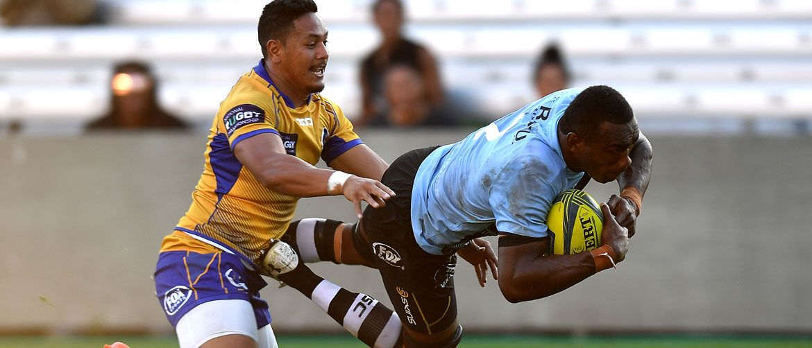 Rugby action in Perth