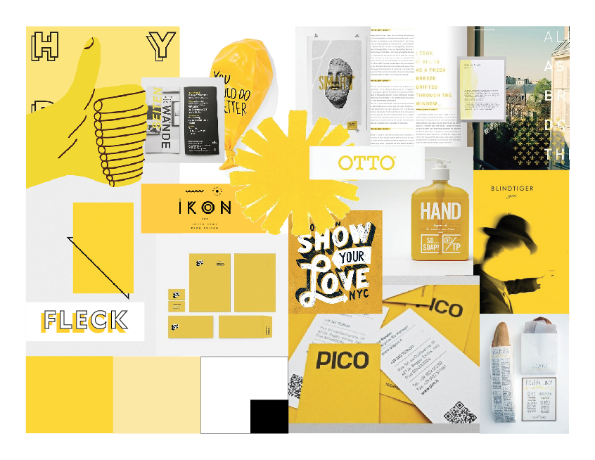 An early moodboard for my logo design