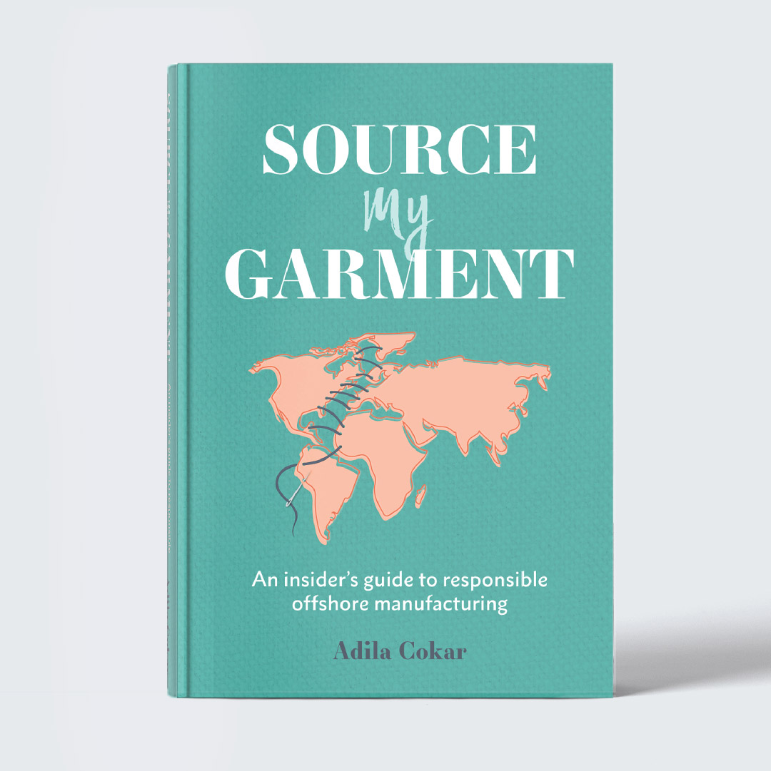 SOURCE MY GARMENT    Source My Garment: An insider's guide to responsible offshore garment manufacturing  is a comprehensive and straightforward guide to helping clothing designers realize their dreams. Launching a fashion line is a lot of work but this guide will help designers become successful in all areas of production. This book was designed to nod to common tools found in the fashion world such as needle and thread while still feeling contemporary. Check out the Source My Garment website  here .