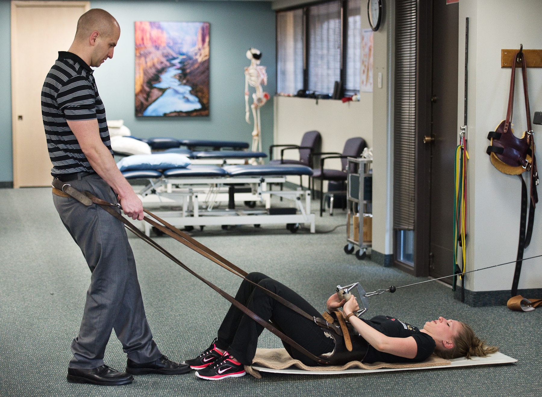 High level spinal strength training