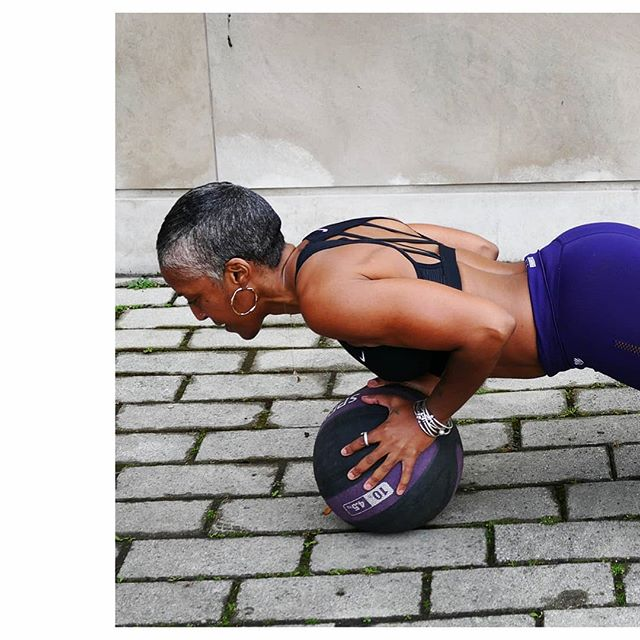. Stability is everything. Being it  emotional or physical. You need a solid ground to build  anything on. ___ * Medicine Ball Pushups  Lets #ResolveToMove together! Visit the link in my bio @resolvetomove to schedule a personal training session.  #HappyNeesie #LoveMyShape #PersonalTrainer 📸@camileo