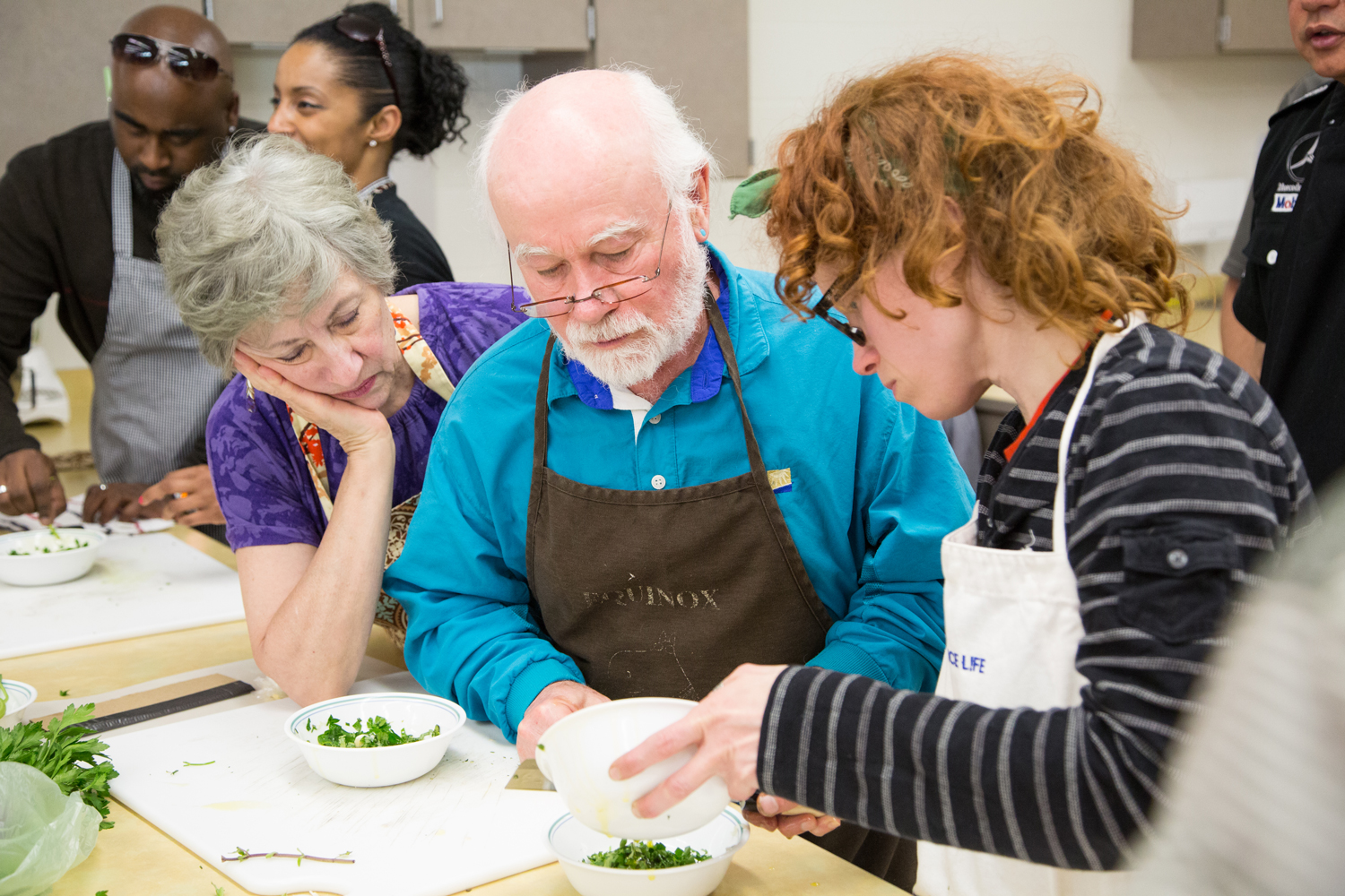 Community cooking class for an article in  Experience Life  magazine