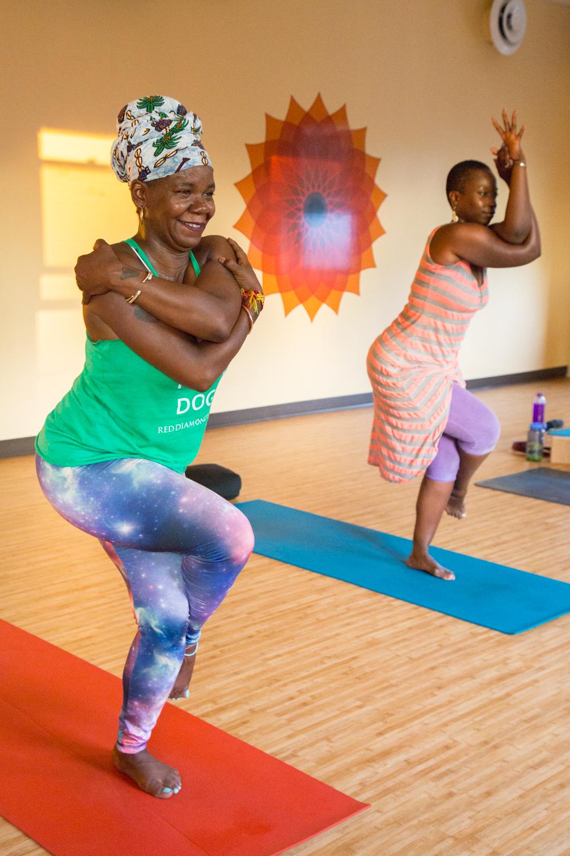 Yoga class at  Northside Radiant Life Yoga , Minneapolis