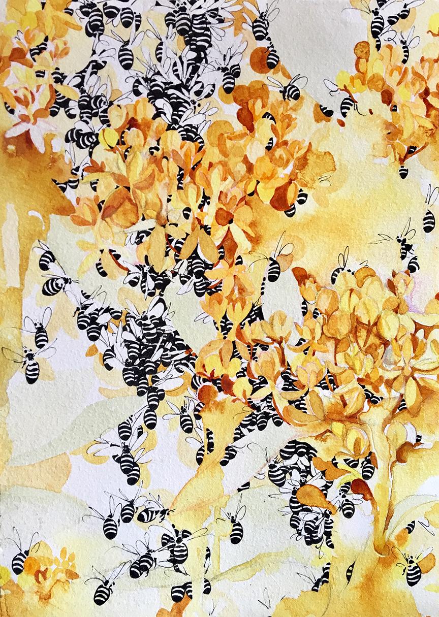 Honeysuckle Bees