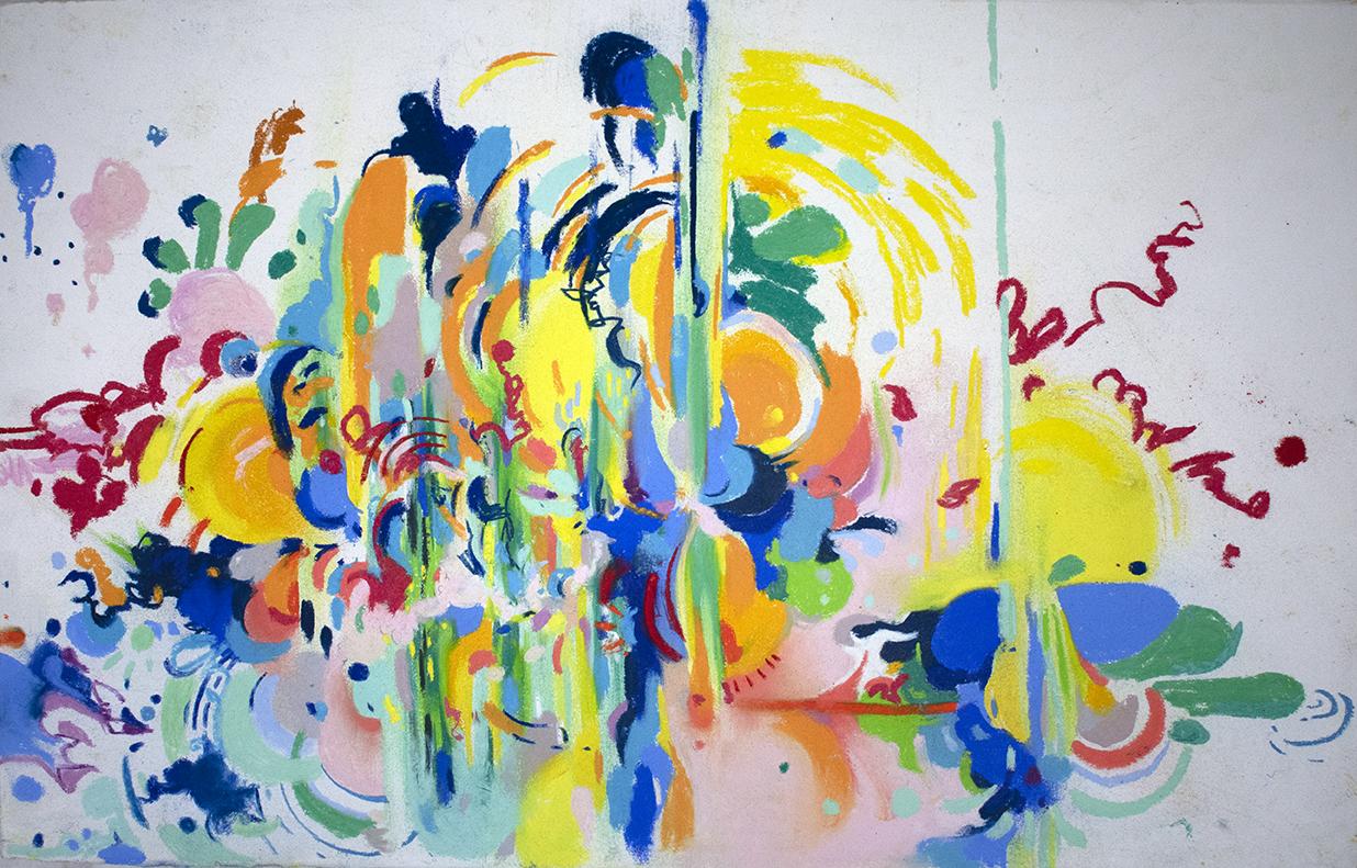 pastel on Rives BFK, Hartman 2018