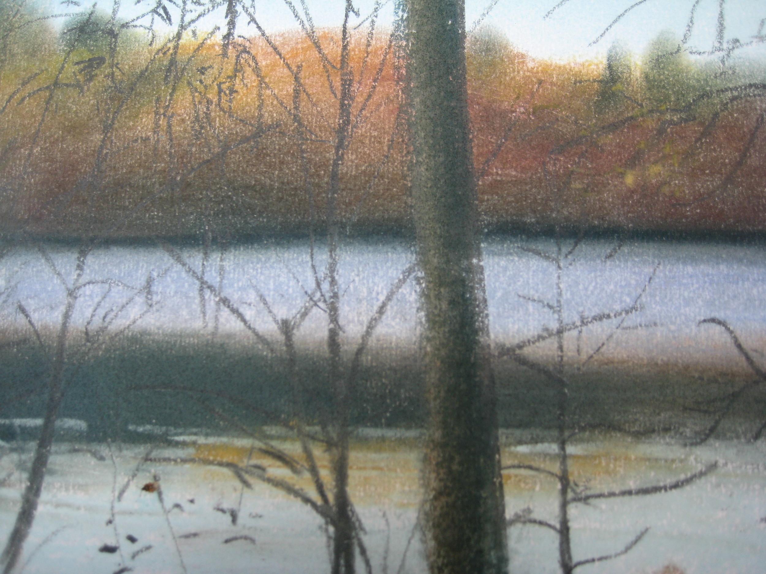 Lake, autumn, Forges I