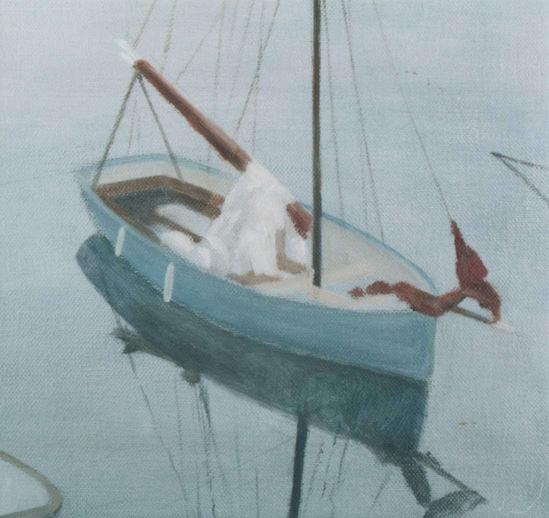 Three boats, Newlyn (detail)