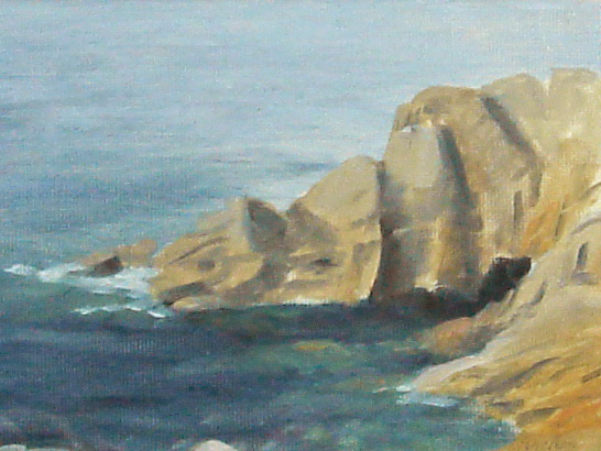 Rocks and sea, Porthgwarra