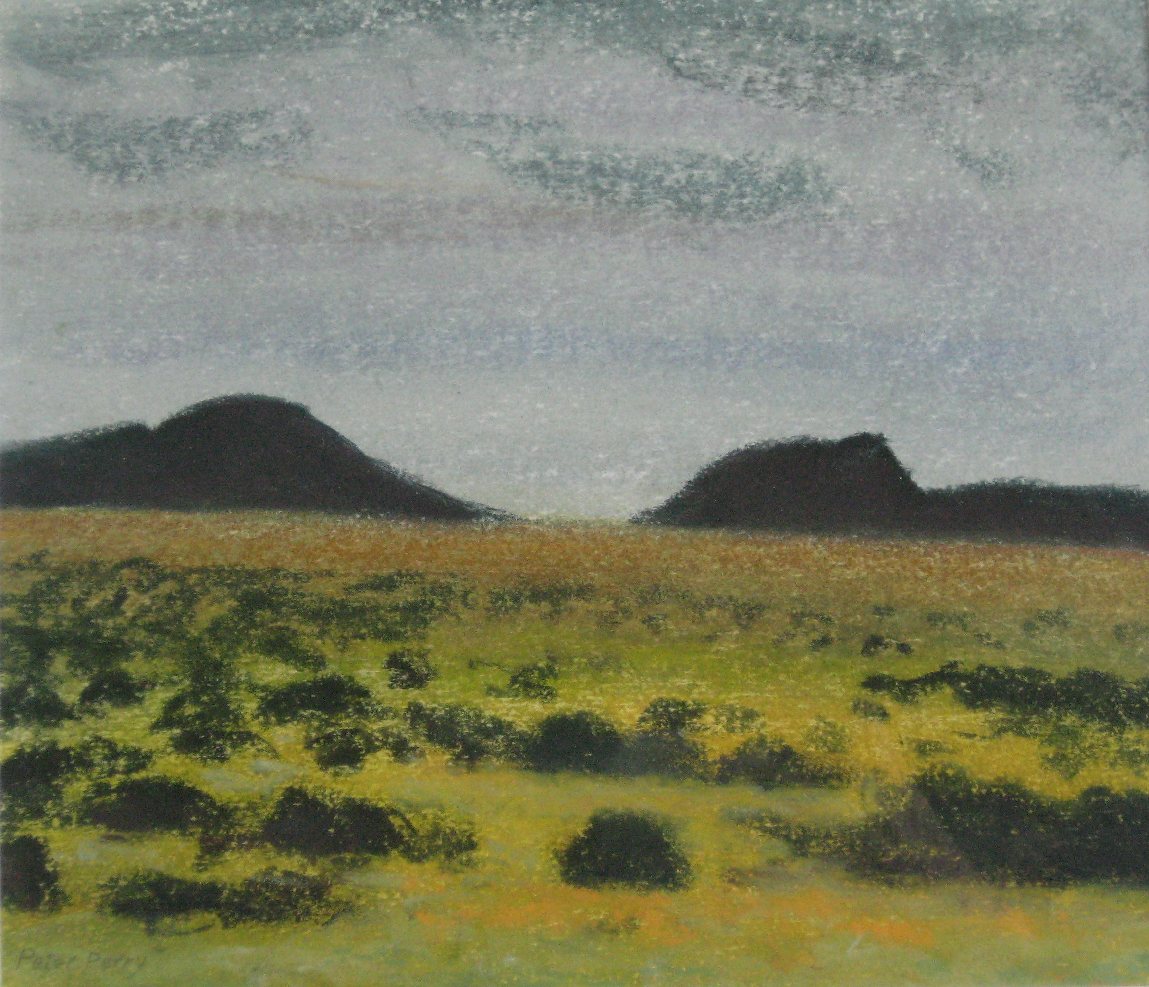 "WEST ICELAND VIII  8.5X7.5"" (22X19cm)   Pastel on card"