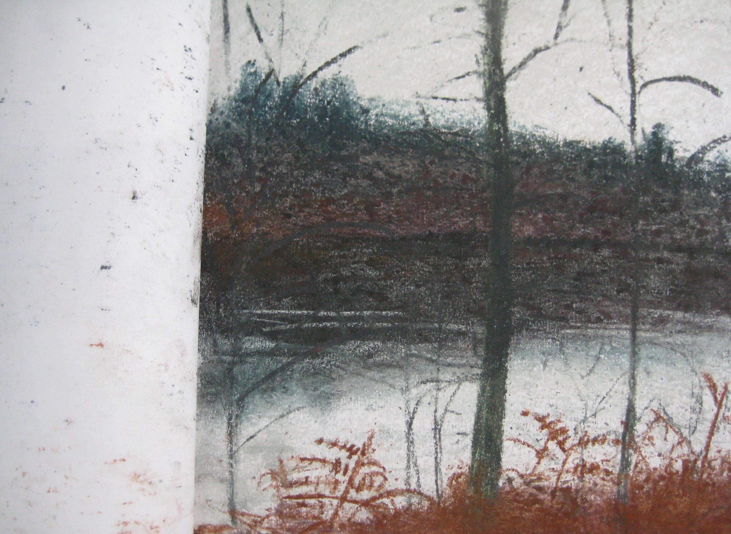 LAKE, NORMANDY  Pastel