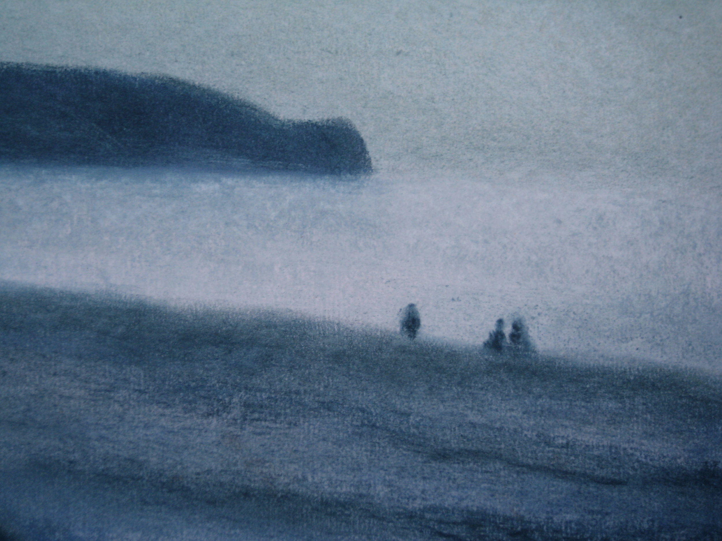 COAST AT DIEPPE  Pastel on paper