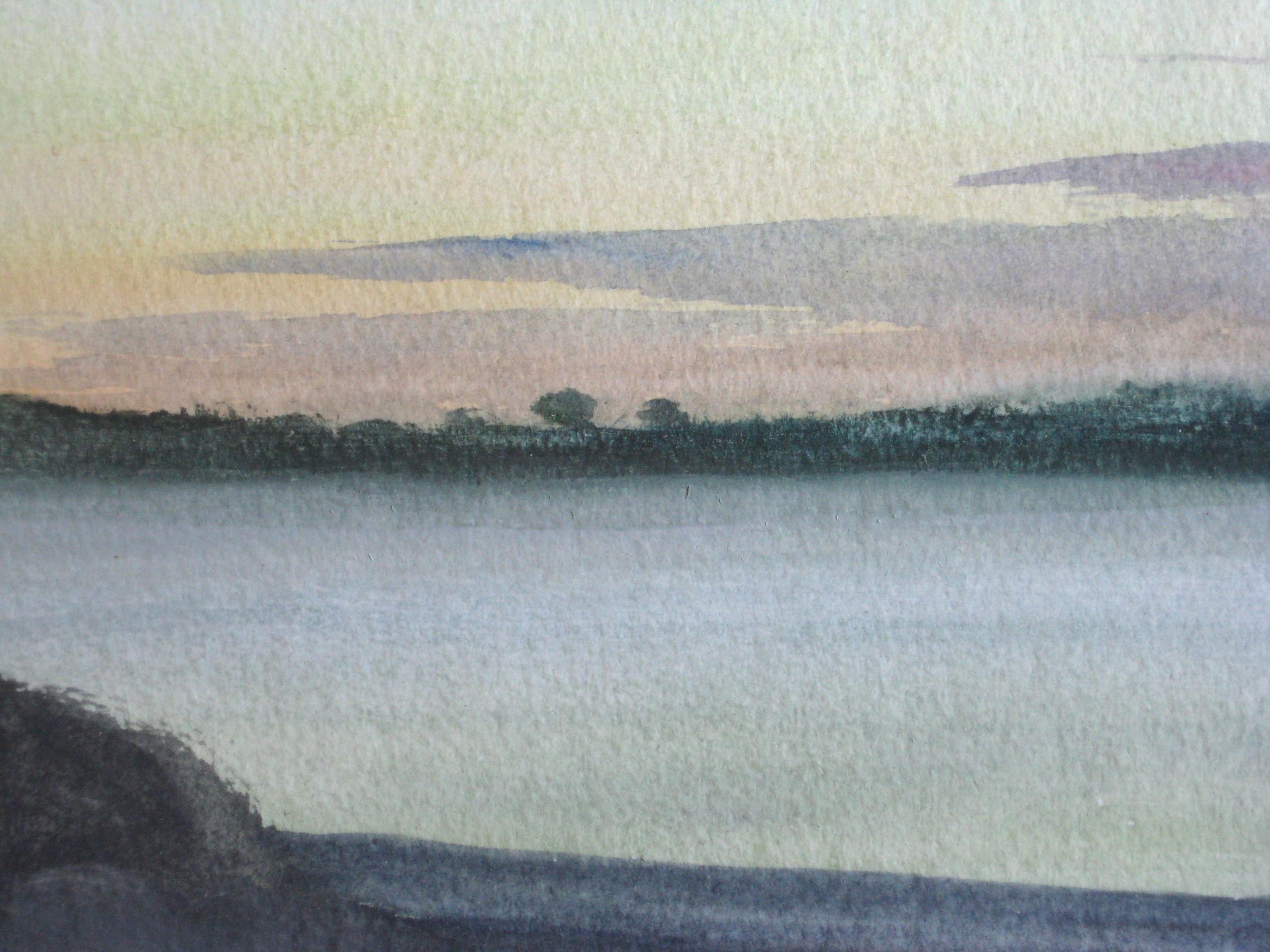 "SANDY COVE  6.5X5.75"" (17X14cm) Watercolour"