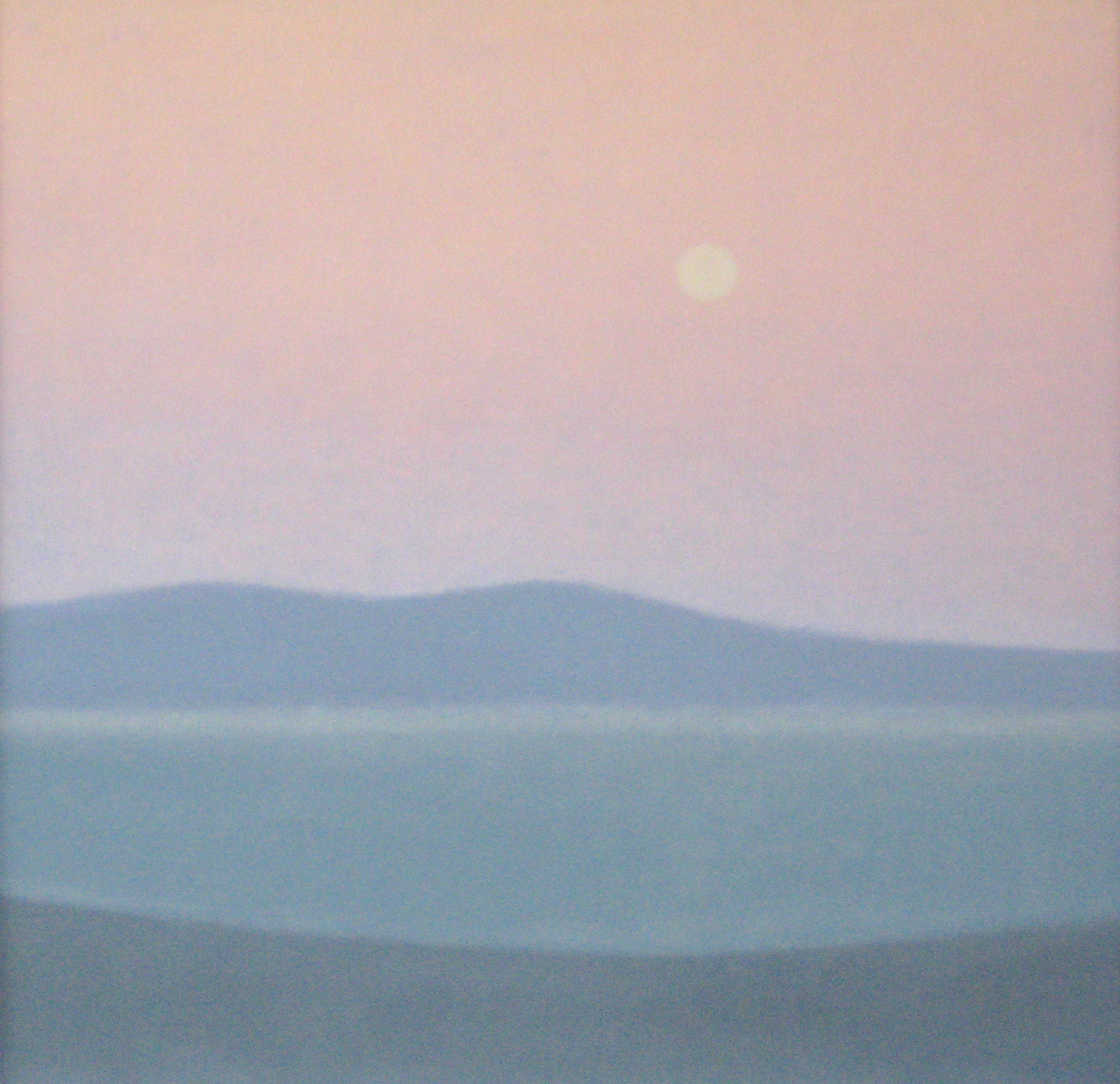 "BAY  11.75X11.75"" (30X30cm)   Oil on canvas"