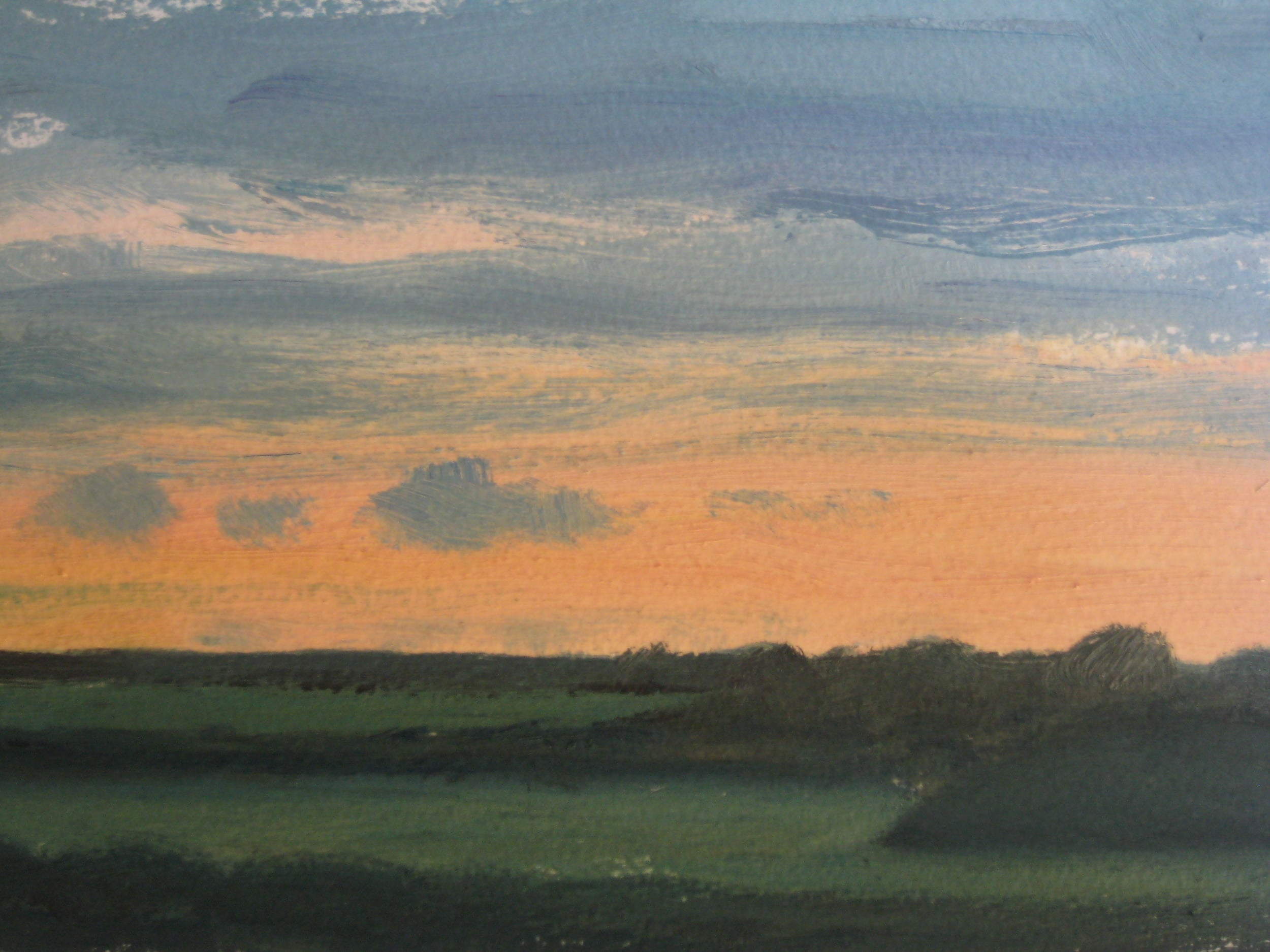 "WEST CORNWALL   8X6"" (21 X 15cm)  Oil on heavy paper   Sold"