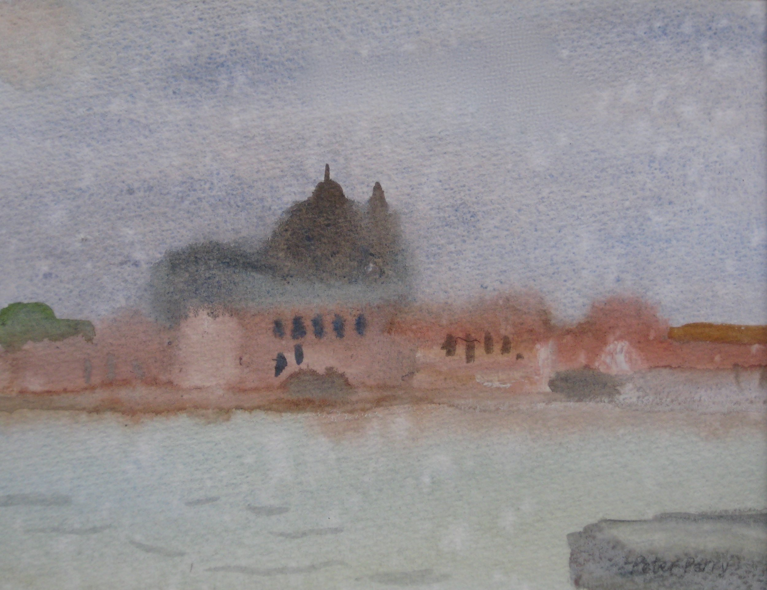 "VENICE III, WET DAY  7.5x5.5"" (19x14cm)  Watercolour"