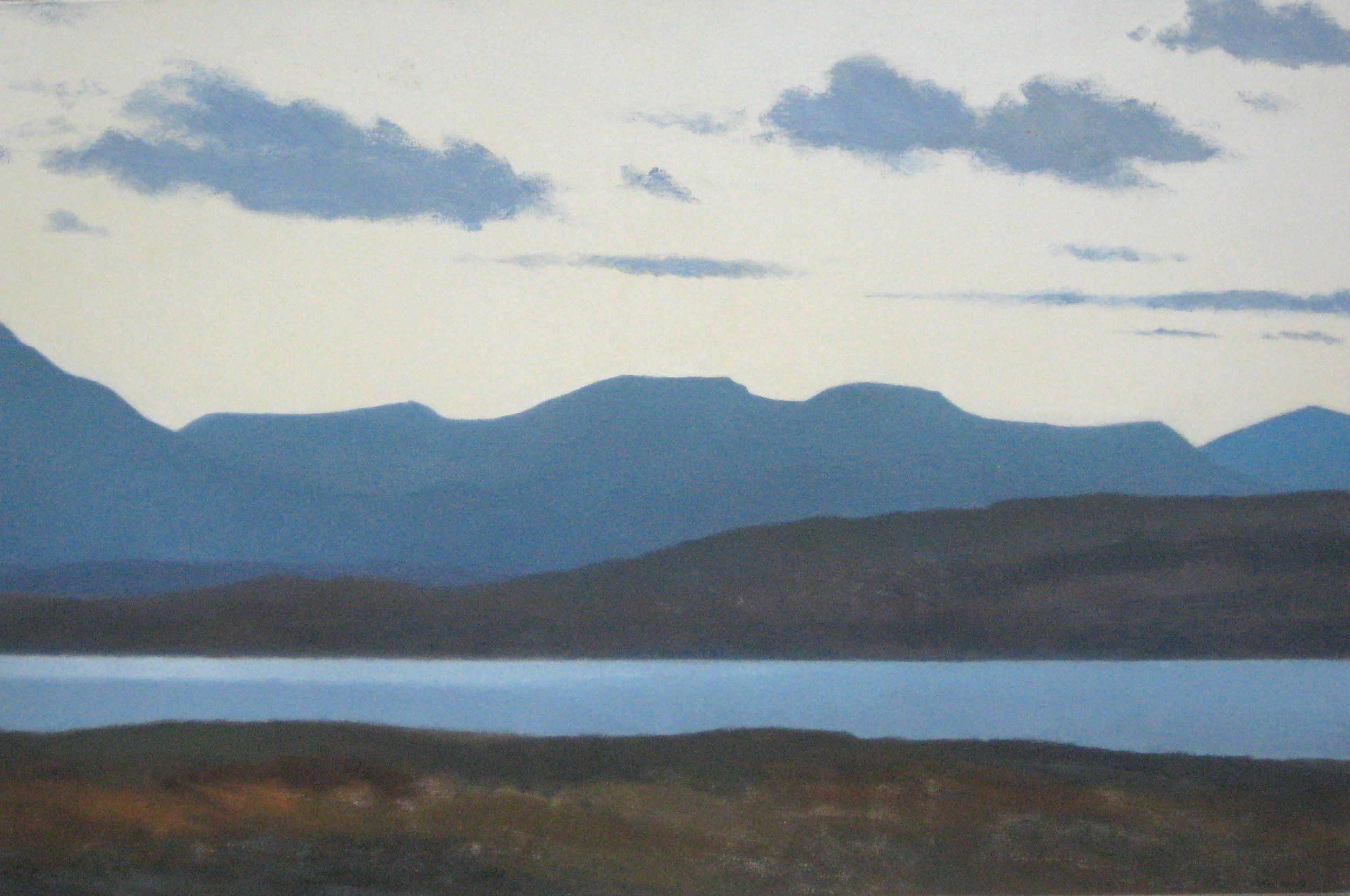 NEAR TRAWSFYNYDD, EVENING, NORTH WIND