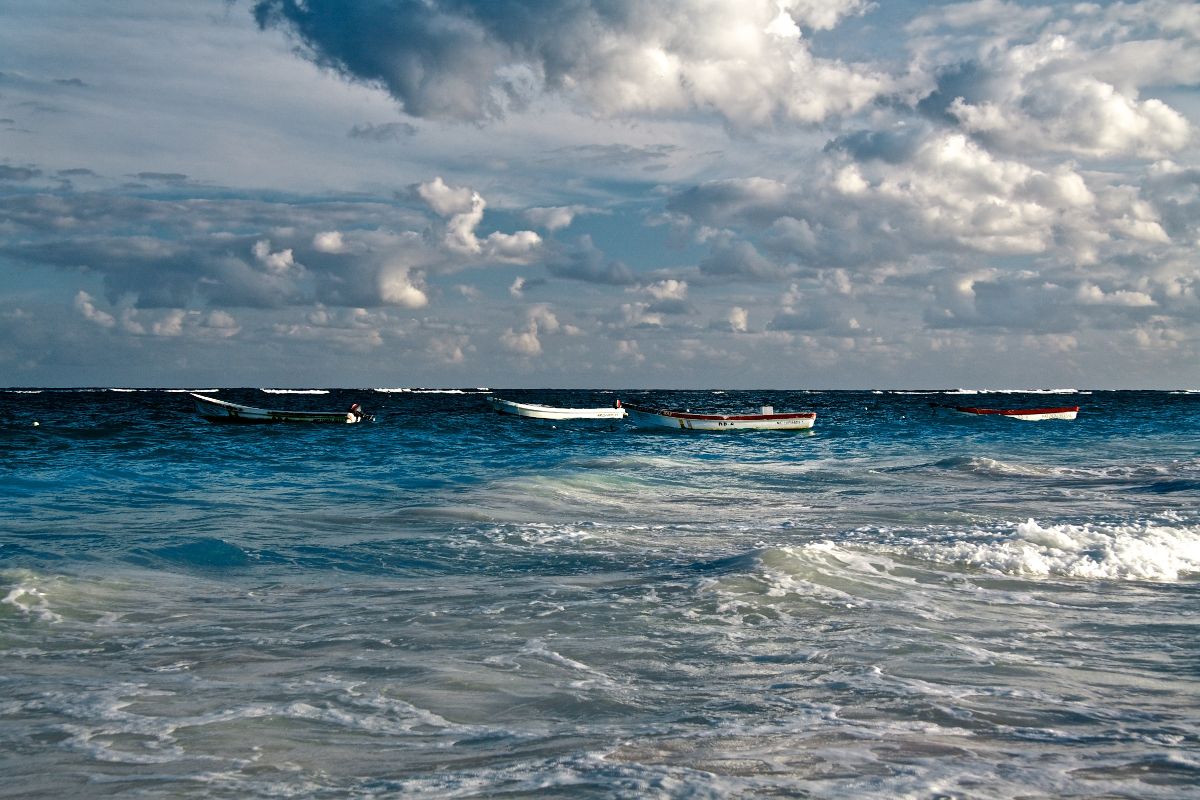 5 boats in Tulum