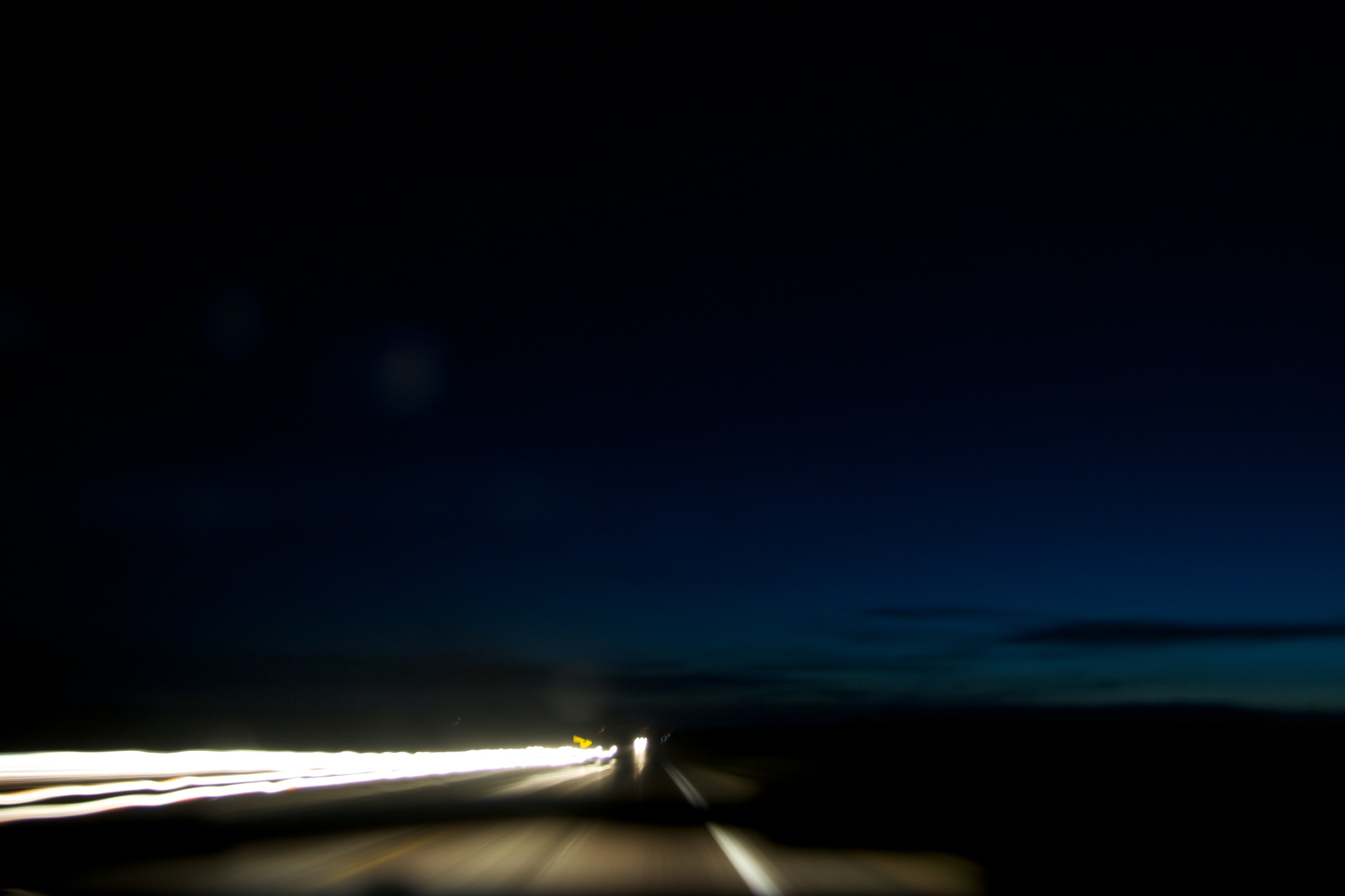 Night Driving in Nebraska.