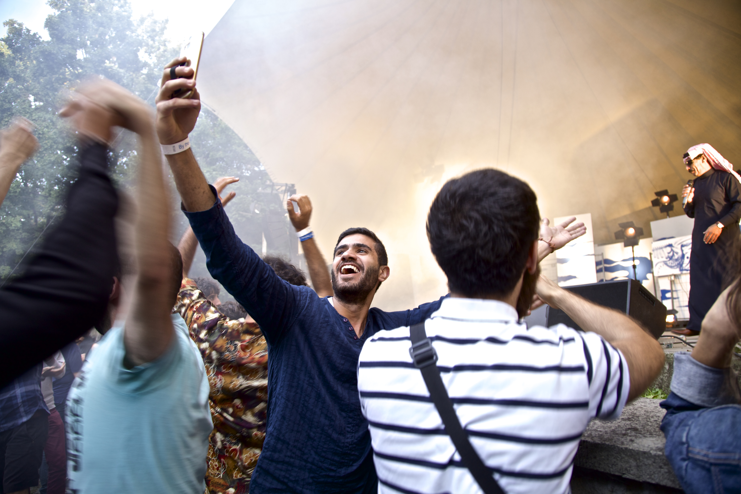 Fans at Omar Souleyman concert.