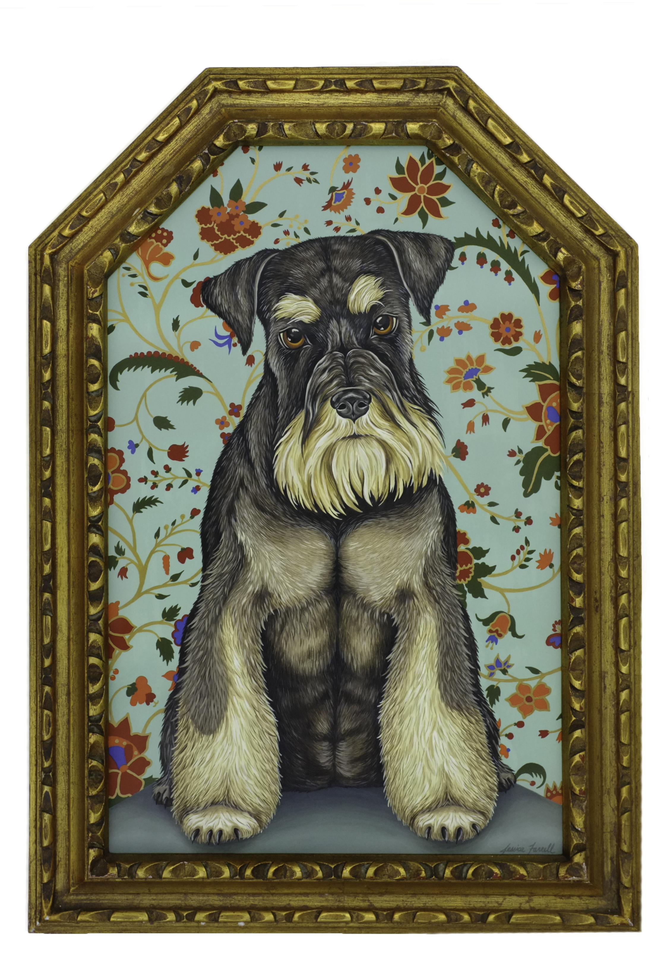 Terrier painting by Jessica