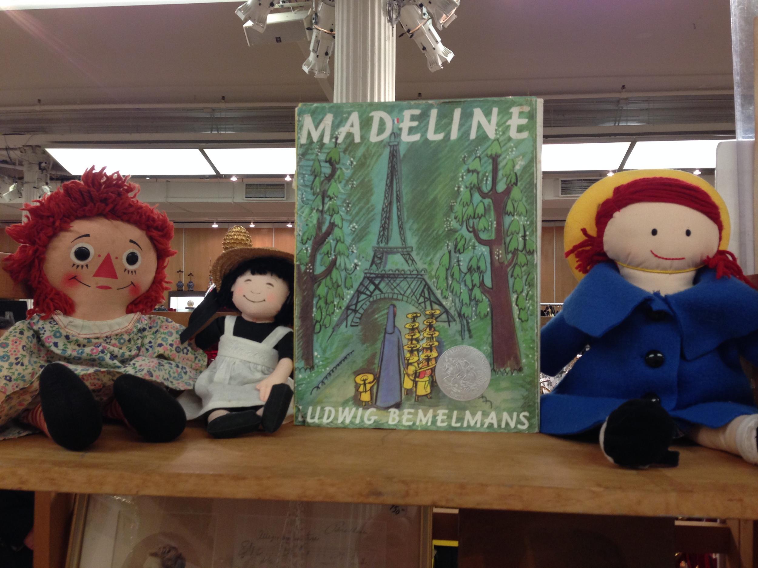 Raggedy Ann & Madeline vintage dolls in pristine condition
