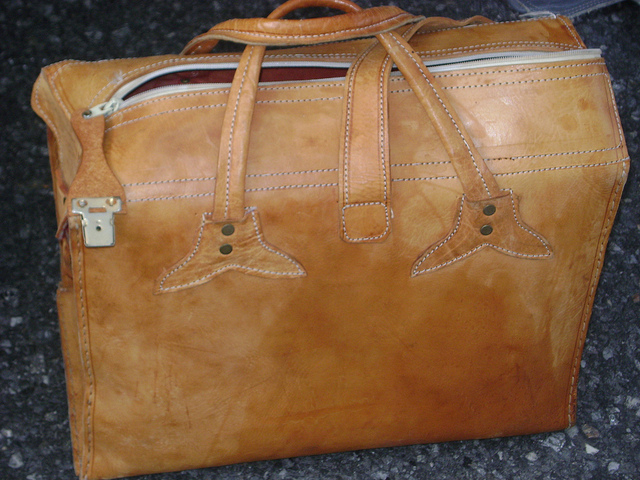 Vintage leather bag from Hell's Kitchen Flea Market