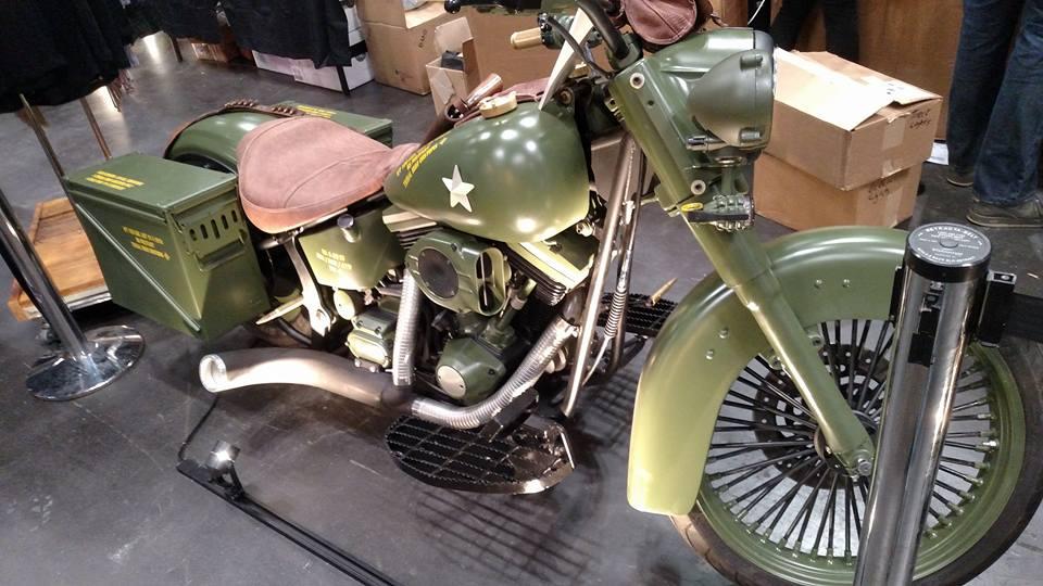 Ballistic Bagger --Army Green Motocycle -full length.jpg