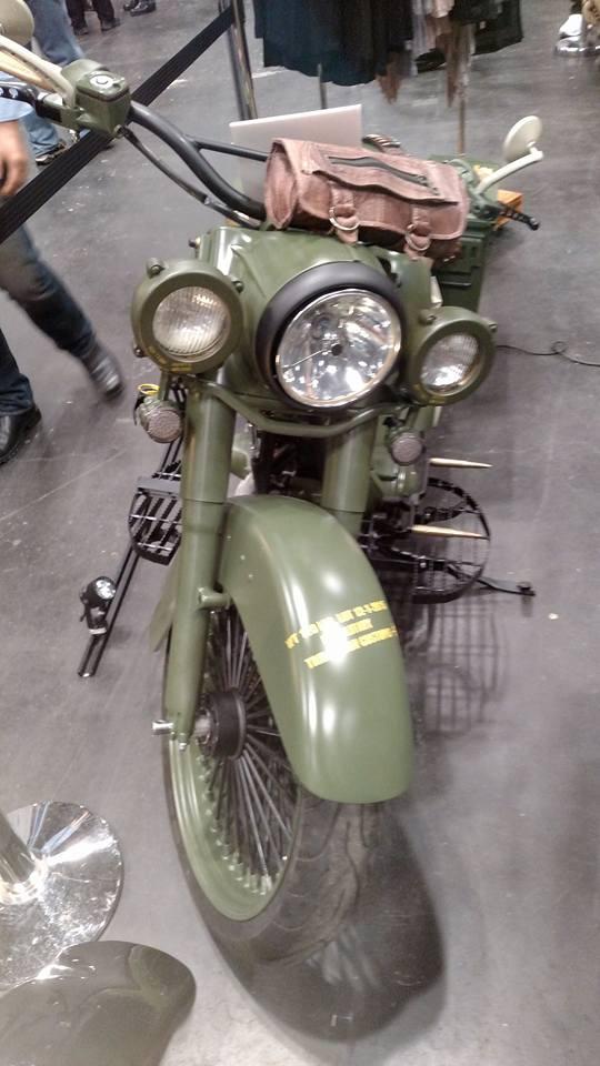 Ballistic Bagger --Army Green Motocycle -front.jpg
