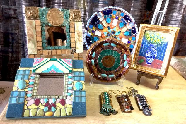 Beautiful art pieces for sale at Judy Negron's Open Studio this Sunday