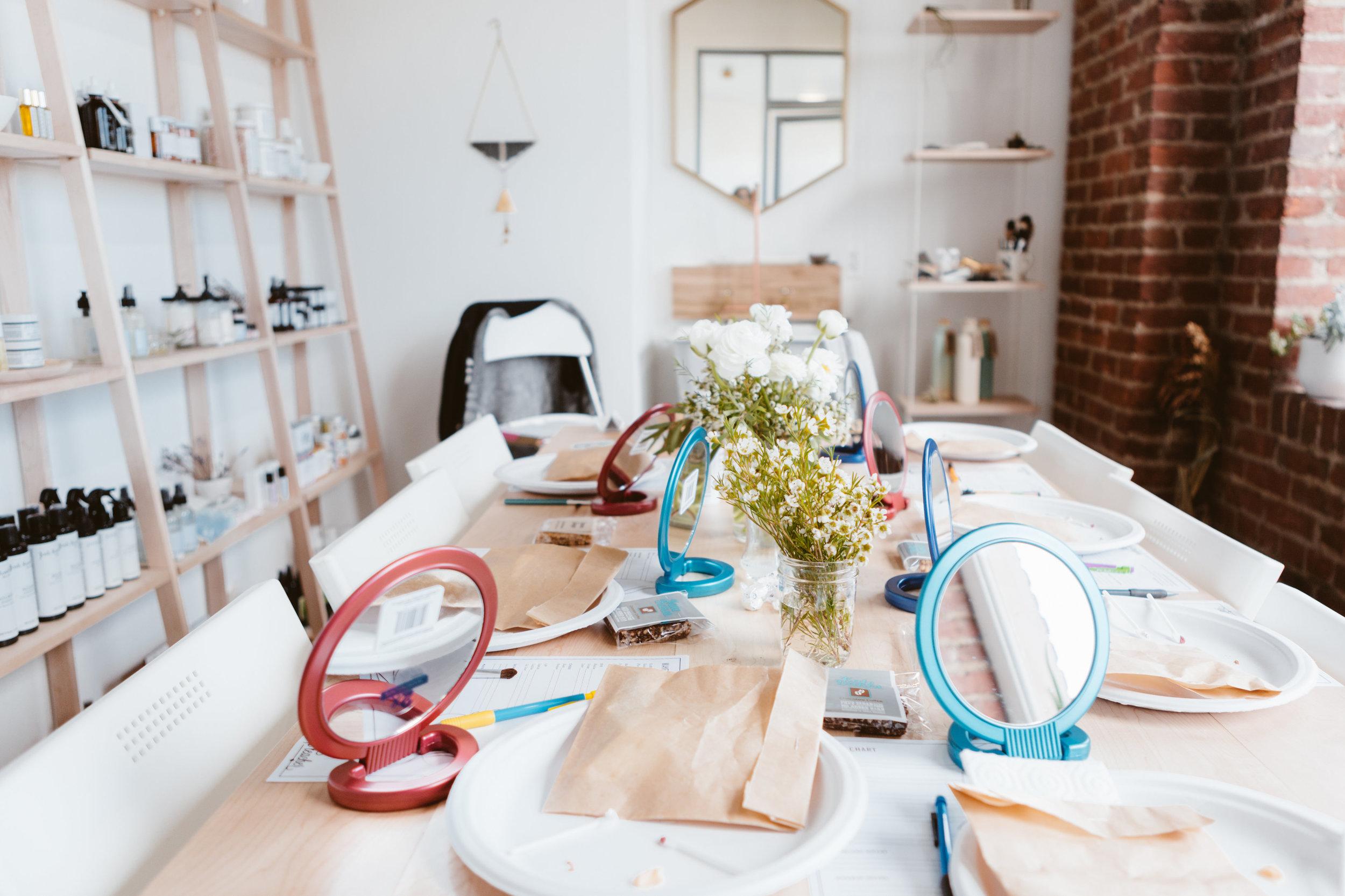Adult Makeup Class   Photo By: Sarah Price Photography