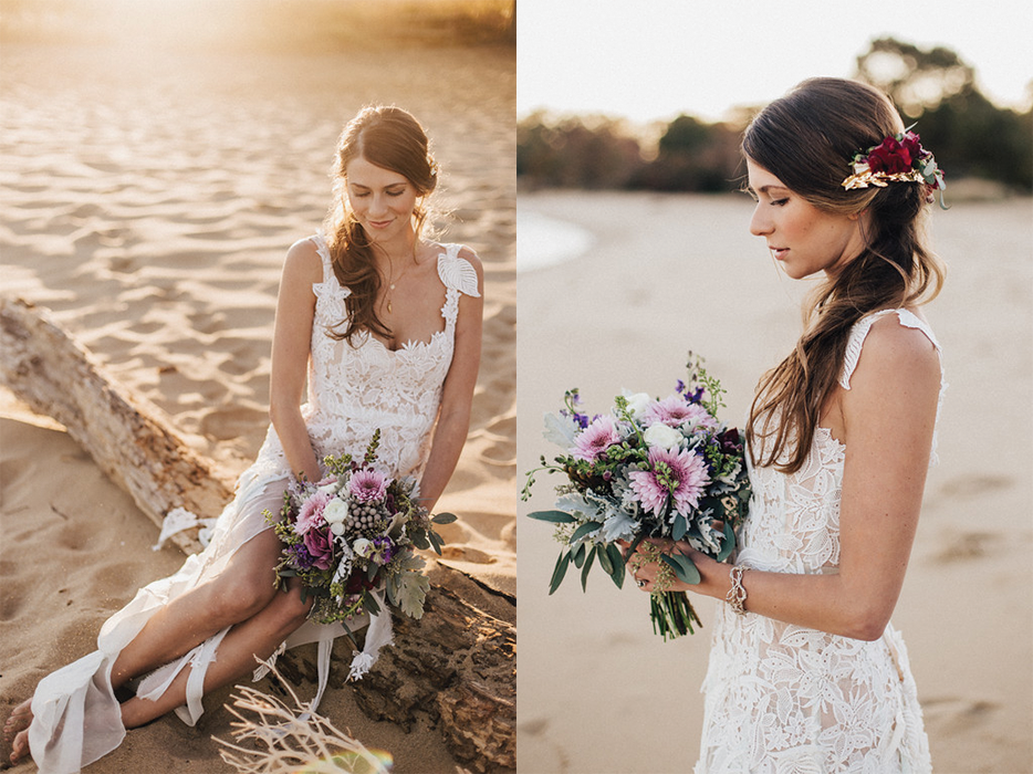 Natural Bride- Model Jenna Featured on Bayside Bride.    Photo By: L.A. Birdie Photography