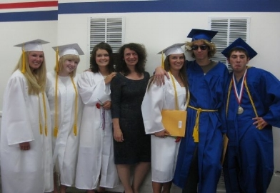 Kathryn (3rd from left) with her North Fork class of 2009