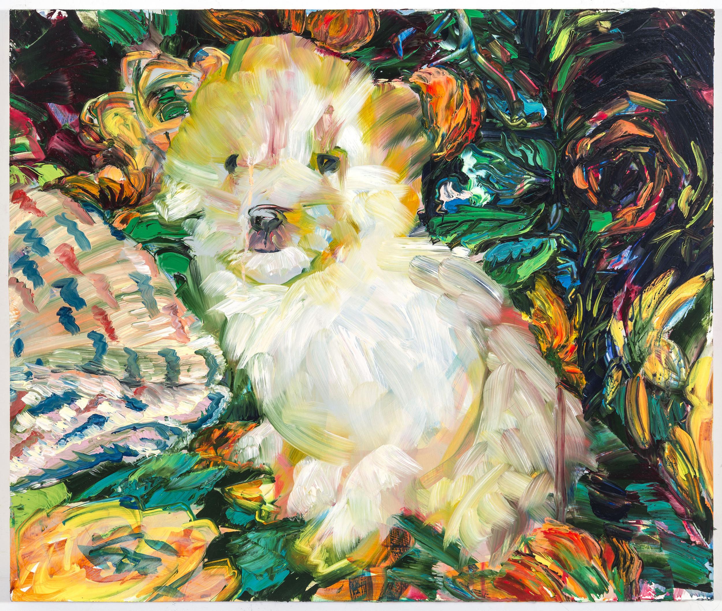 "Fluffy, 20""x24"", oil on panel, 2014"