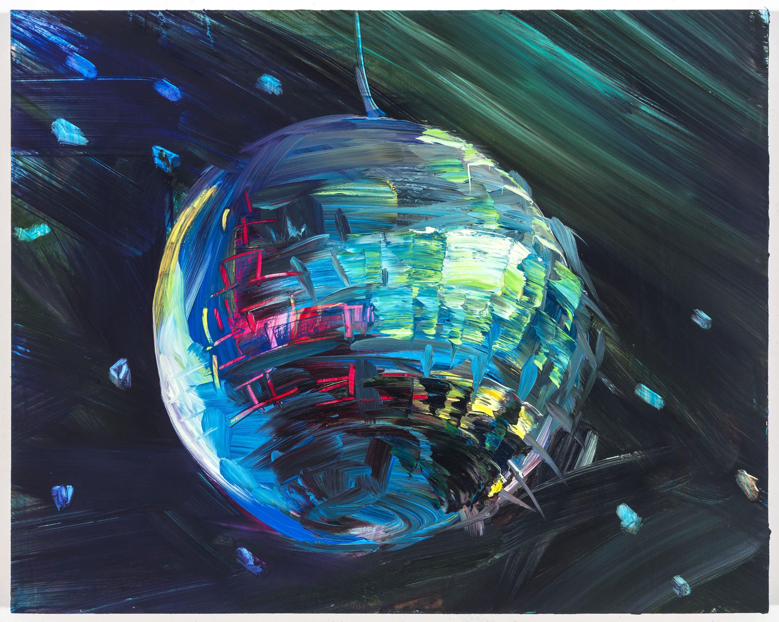 """Moon 1, 12""""x15"""", oil on panel, 2014"""