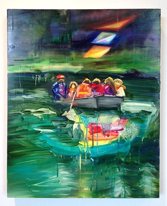 "Kecksberg Roswell 2, 20""x16"", oil on panel, 2013"