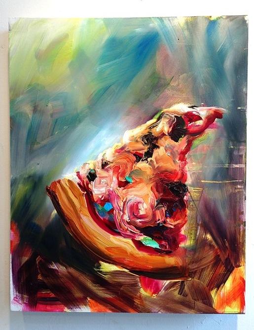 """Streaker, 20""""x16"""", oil on panel, 2013"""