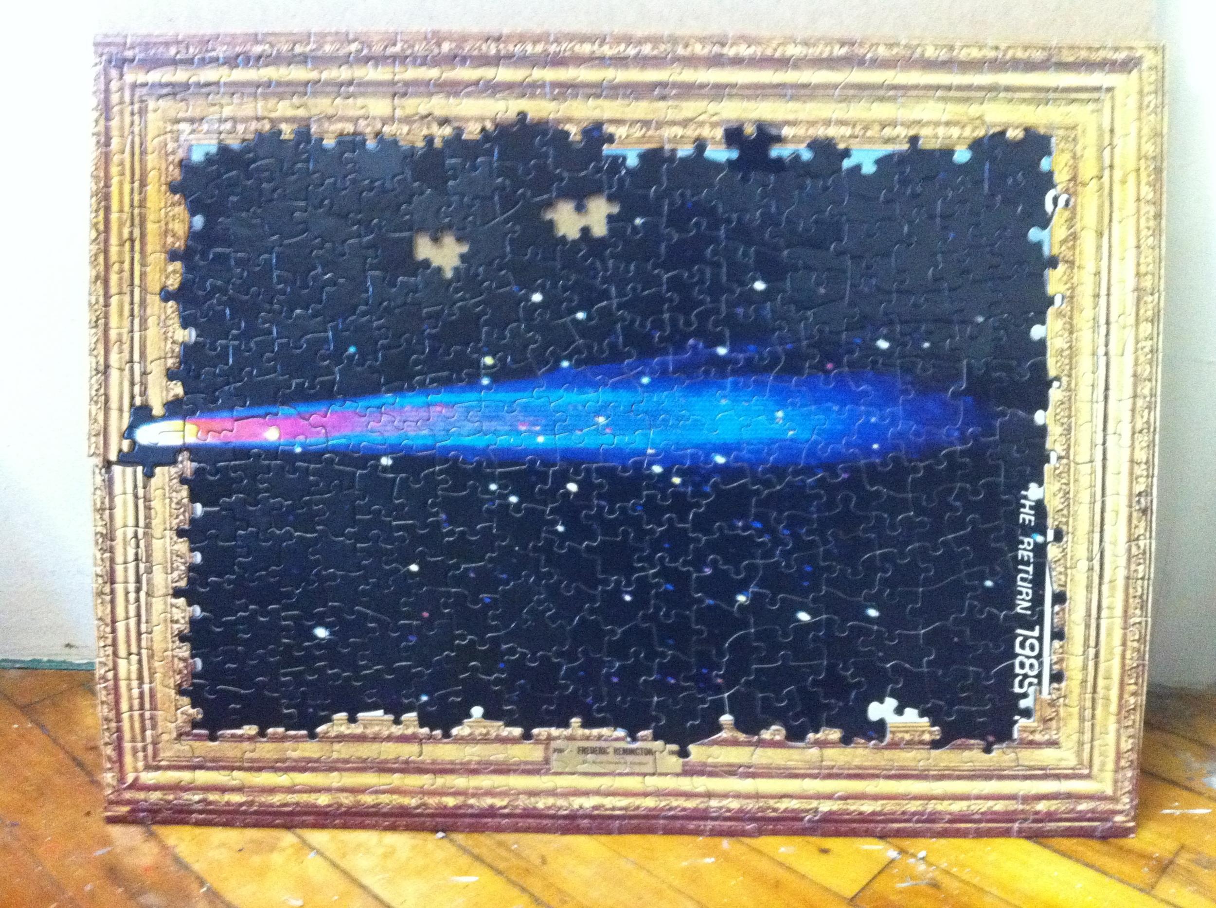 Haley's comet, Puzzle Collage