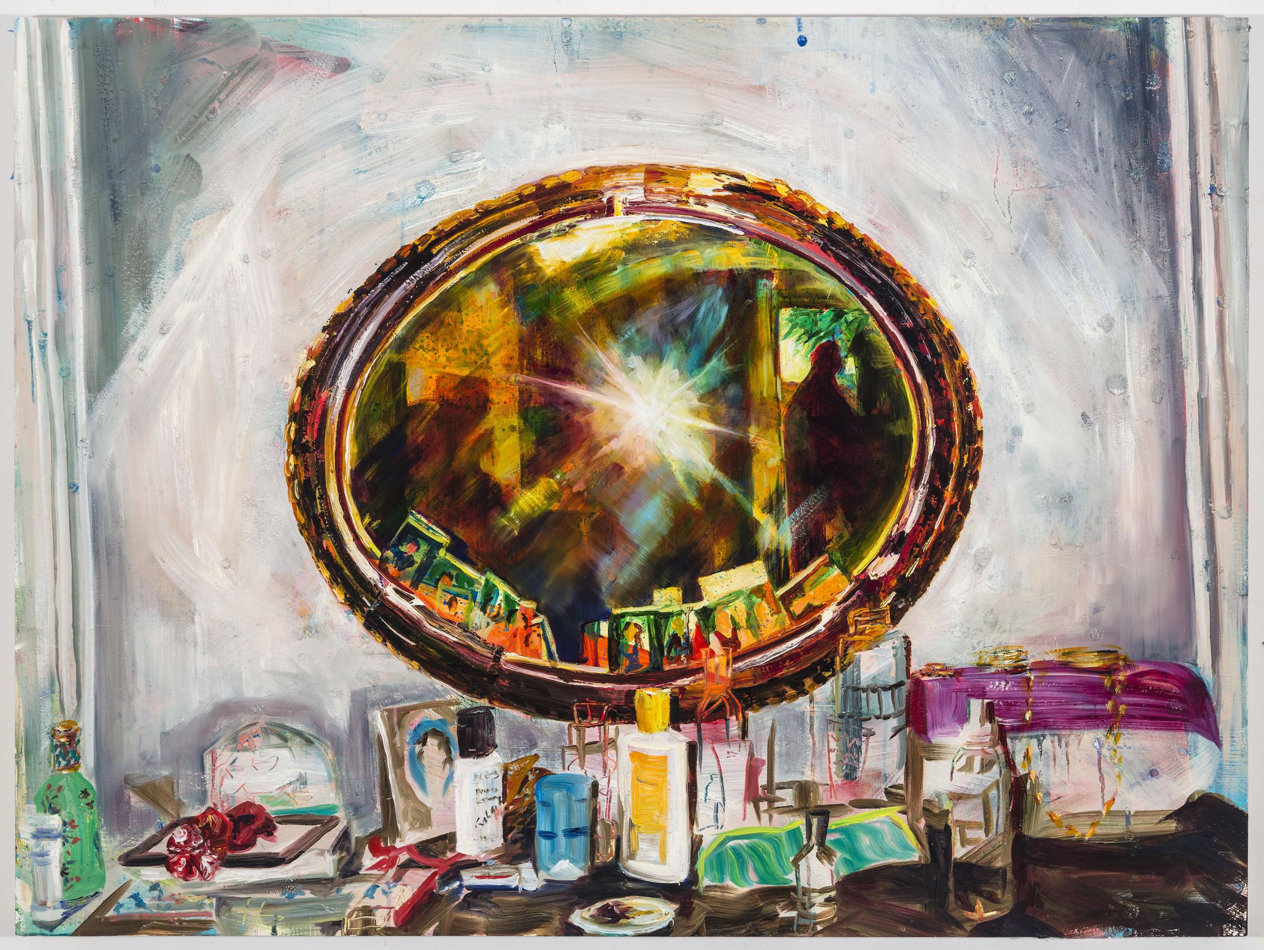 """Sun-In, 30""""x40"""", oil on panel, 2014"""