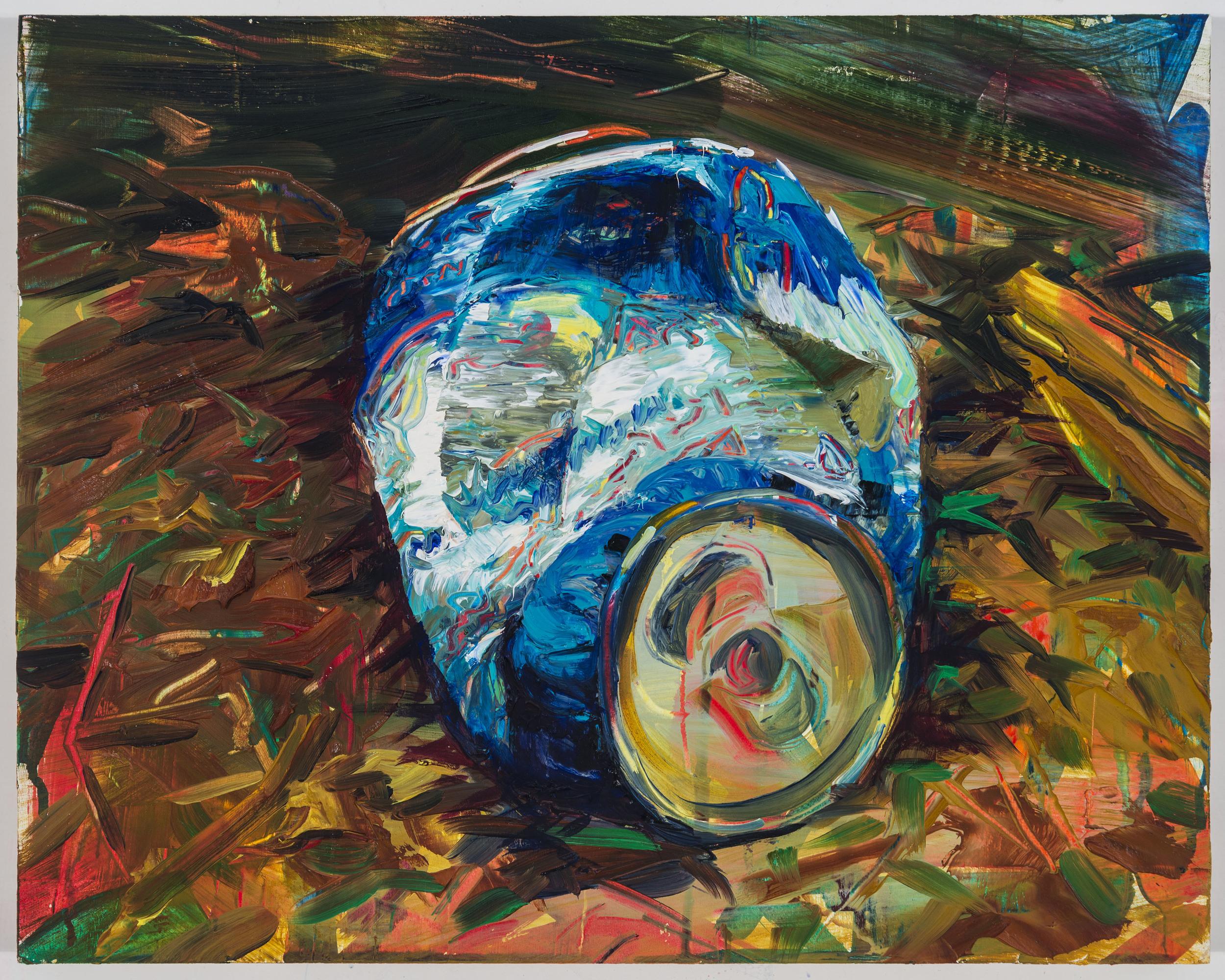 "Crush #4, 12""x15"", oil on panel, 2013"